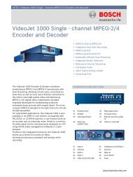 VideoJet 1000 Single - channel MPEG-2/4 Encoder and Decoder