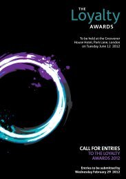 call for entries to the loyalty awards 2012