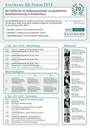 Programm und Anmeldeformular, Hannover PDF - 1,5 MB - Saatmann
