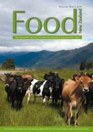 The official Journal of The new zealand insTiTuTe of food science ...