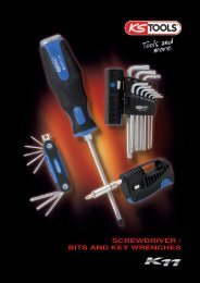 SCREWDRIVER / BITS AND KEY WRENCHES