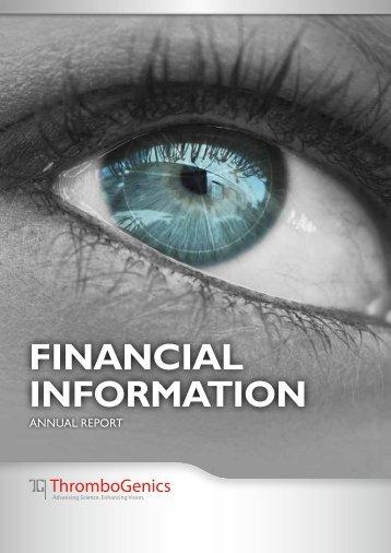 Annual Report 2011 - ThromboGenics