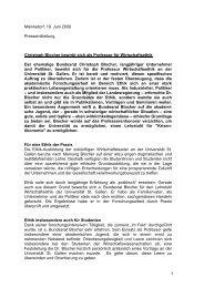 Männedorf, 19. Juni 2009 Pressemitteilung Christoph Blocher ...