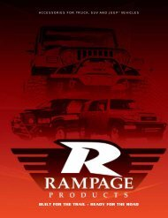 built for the trail - Rampage Products