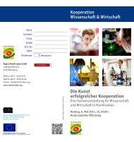Die Kunst erfolgreicher Kooperation - Universität Würzburg