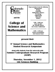 8th Annual Student Research Symposium (Fall 2012)