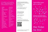 Flyer Selbsthilfe-Kontaktstelle Frankfurt