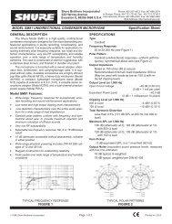 Shure SM81 Unidirectional Condenser Microphone - All Pro Sound