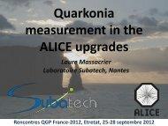 Mesure des quarkonia avec les upgrade dans ALICE