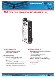 BAS Router — BACnet/IP zu BACnet MS/TP Router - Contemporary ...