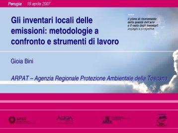 Titolo Gli inventari locali delle emissioni ... - ARPA Umbria