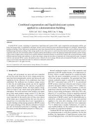 Combined cogeneration and liquid-desiccant system applied in a ...