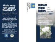2008 Outdoor Wood Boiler Brochure - Burning Issues