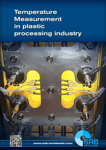 Temperature measurement in plastic processing industry