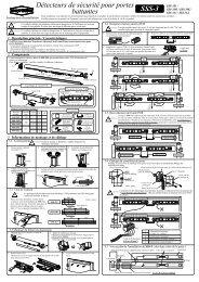 SSS-3 Instructions de montage - Hotron