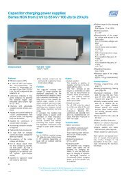 Capacitor charging power supplies Series HCK ... - Fug Elektronik