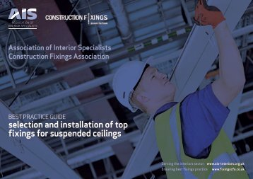 selection and installation of top fixings for suspended ceilings
