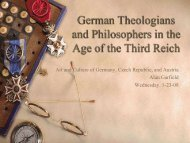 1-23-08 German Theologians and Philosophers who influenced the ...