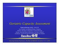 Geriatric Capacity Assessment - Compassion and Support