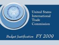 FY 2009 - USITC