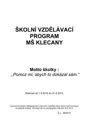 Školní vzdělávací program - Základní a Mateřská škola Klecany