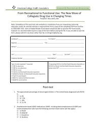 Complete the Post-test and Evaluation Form