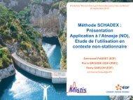 SCHADEX simulation results - Mistis - Grenoble