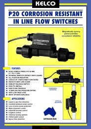 P20 CORROSION RESISTANT IN LINE FLOW SWITCHES - PVL Ltd