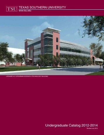 Undergraduate Catalog 2012-2014 - Texas Southern University ...