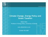 Climate Change, Energy Policy and Green Taxation - Iddri