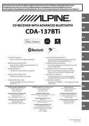 CDA-137BTi - Alpine