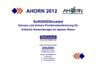 AHORN 2012 - Swiss Institute Of Navigation :: ION-CH
