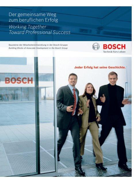 Der gemeinsame Weg zum beruflichen Erfolg Working ... - Bosch