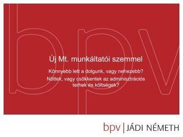 Az új Mt. munkáltatói szemmel - Bpv-jadi.com