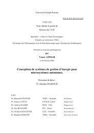 Conception de systèmes de gestion d'énergie ... - Laboratoire TIMA