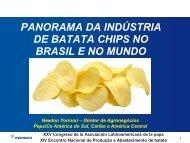 panorama da indústria de batata chips no brasil e no mundo