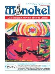 14. Jahrgang - August/September 2009 - Monokel - Das Magazin für ...