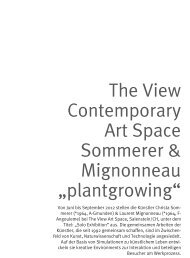 the View Contemporary Art Space Sommerer & mignonneau ...