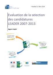 Rapport complet de l'étude - Réseau Rural Français