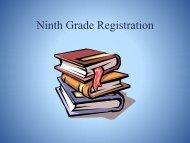 Ninth Grade Registration 2013
