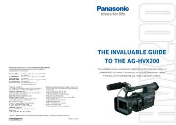 THE INVALUABLE GUIDE TO THE AG-HVX200