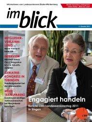 Engagiert handeln - Der Landesseniorenrat Baden-Württemberg eV
