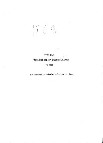 "EMG 1569 ""TRANSISCOPE-D"" OSZCILLOSZKÓP"