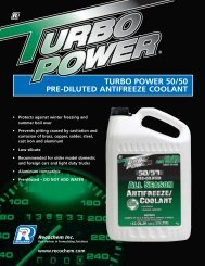turbo power 50/50 pre-diluted antifreeze coolant