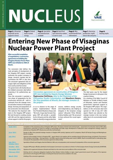 support - Visagino atominės elektrinės projektas