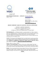 FOR IMMEDIATE RELEASE: CONTACT: Rosemary ... - WQED