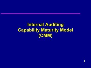 Internal Auditing Capability Maturity Model (CMM) - CCAF-FCVI Inc.