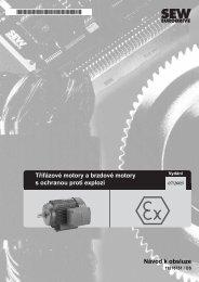 Třífázové motory a brzdové motory s ochranou proti ... - SEW Eurodrive