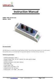 Page 1 of 3 NAME: RGB LED Dimmer MODEL ... - LEDLight.com
