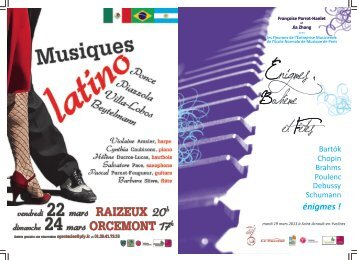 Programme du concert du 19 mars 2013
